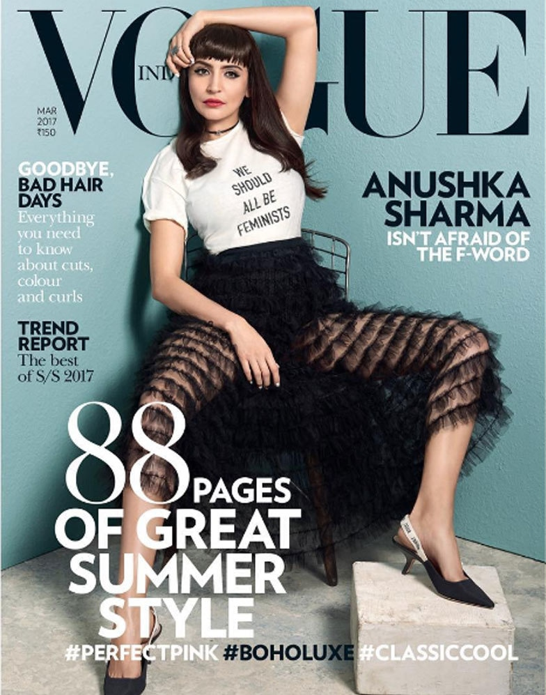 Anushka Sharma on the cover of Vogue India, March 2017 edition.