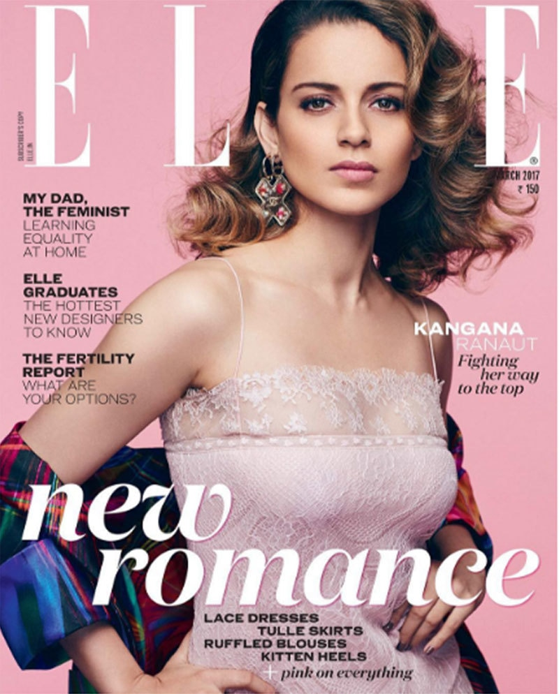Kangana Ranaut's first cover shoot for Elle India magazine.