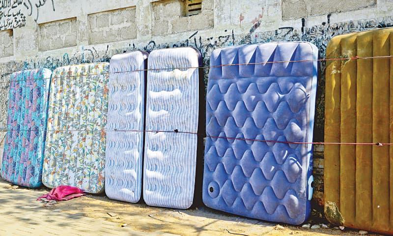 Air mattresses.