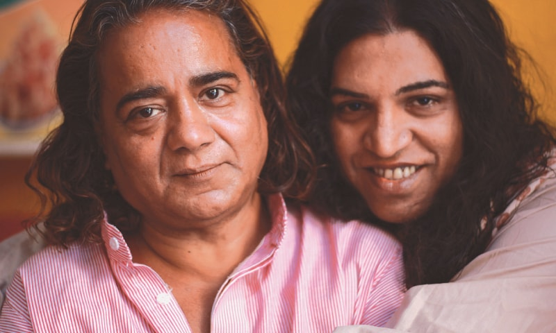Without the glare of judgment or bias, Neeli Naz (right) and her guru Gogi find a moment of peace at home