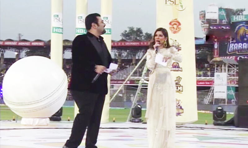 Ayesha Omer and Ahmed Ali Butt are co-hosting the star-studded opening ceremony. ─ DawnNews