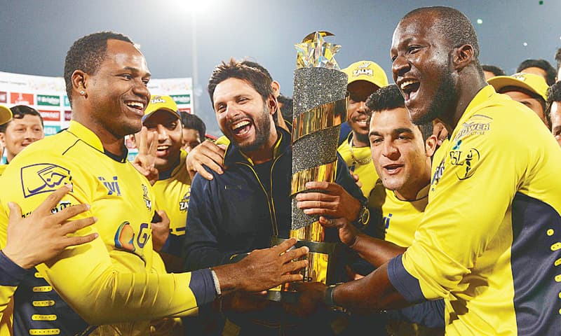 JOYOUS Zalmis with the trophy.—Murtaza Ali/White Star