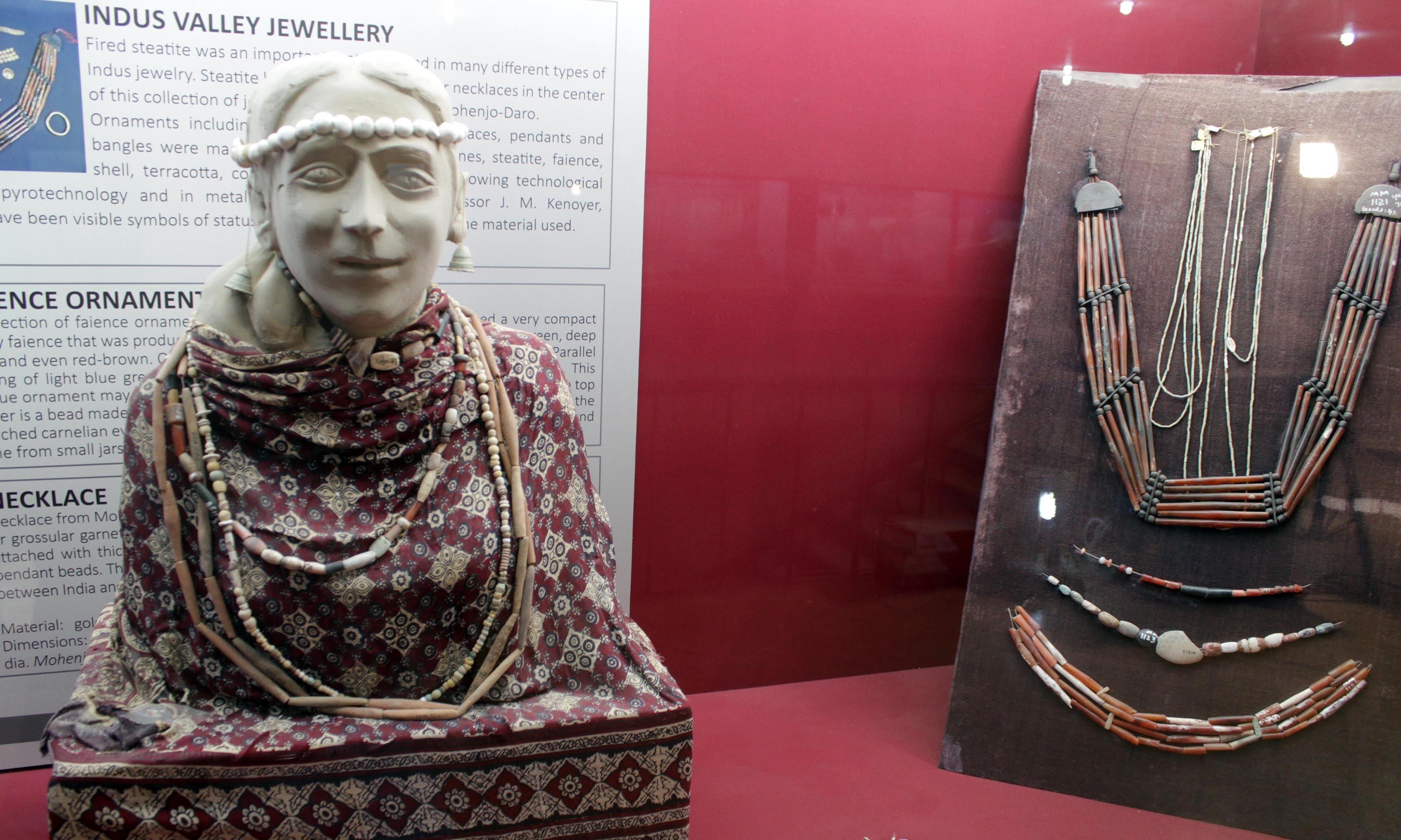 A sculpture placed at Moenjodaro museum. —Tauseef Razi Mallick