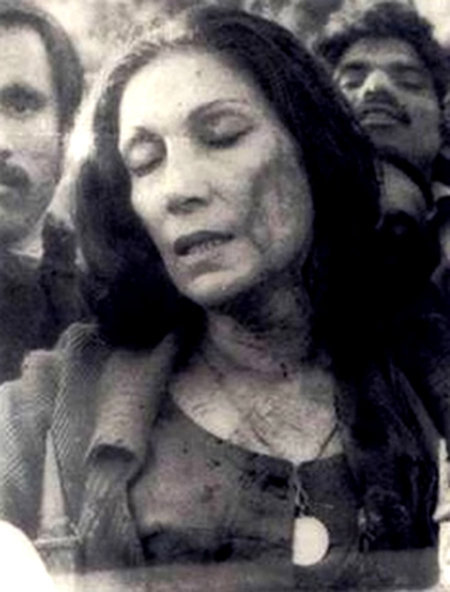 1977: Wife of former PM ZA Bhutto, Nusrat Bhutto, bleeds after being caught up in a riot between police and pro-Bhutto spectators at the Gaddafi Stadium during a Test match against England. (Pic: Zaid/DAWN)