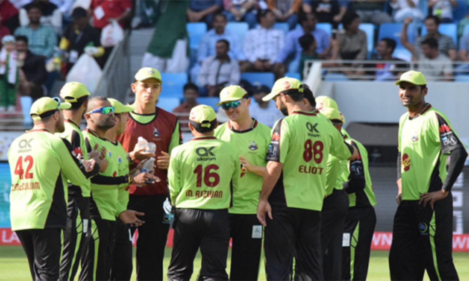 Lahore's premier cricket league team, the Lahore Qalandars. The total worth of the team is $25 million. (Pic: Pakistan Tribe)