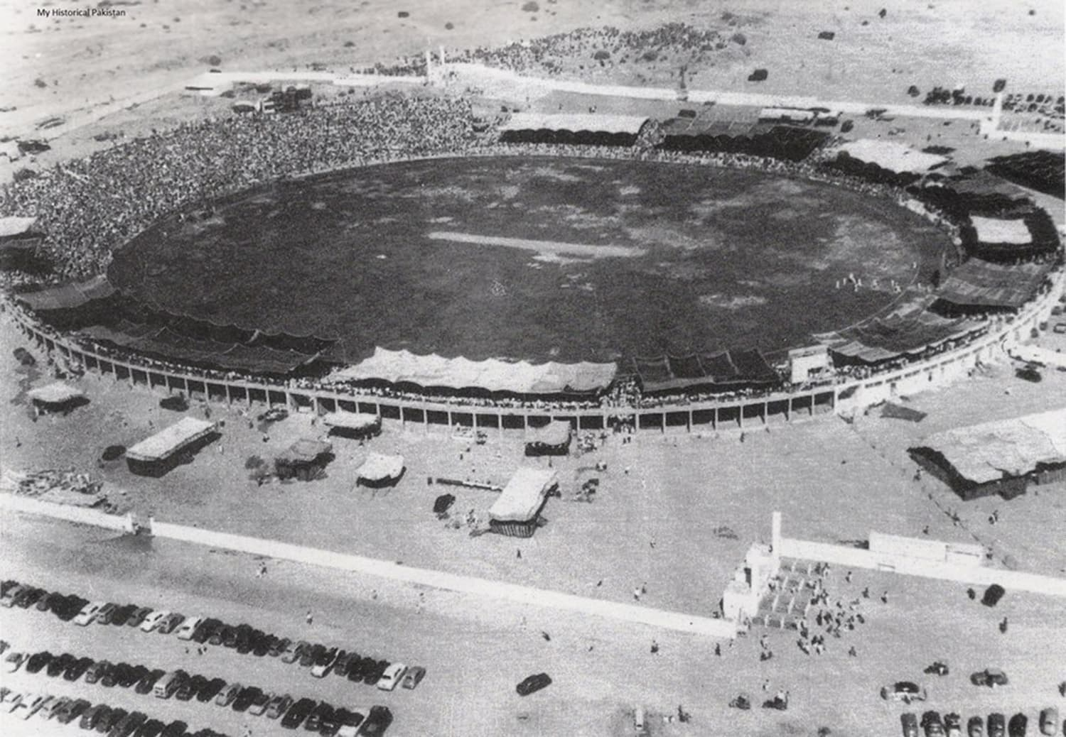1955: The first Test at National Stadium. (Pic: Rafique Ajmal)