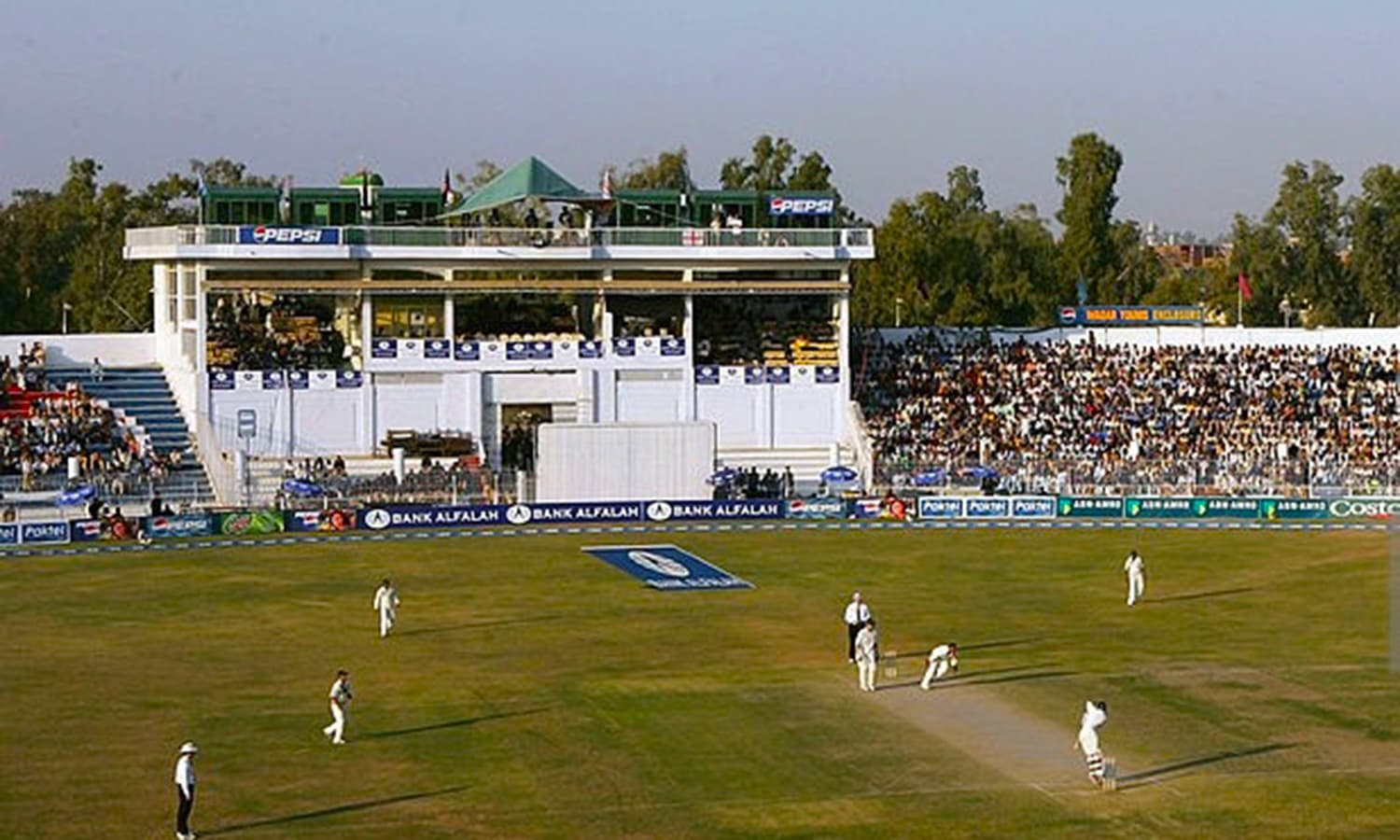 The 2005 Test between Pakistan and England at Iqbal Stadium. (Pic: Stu Foster)