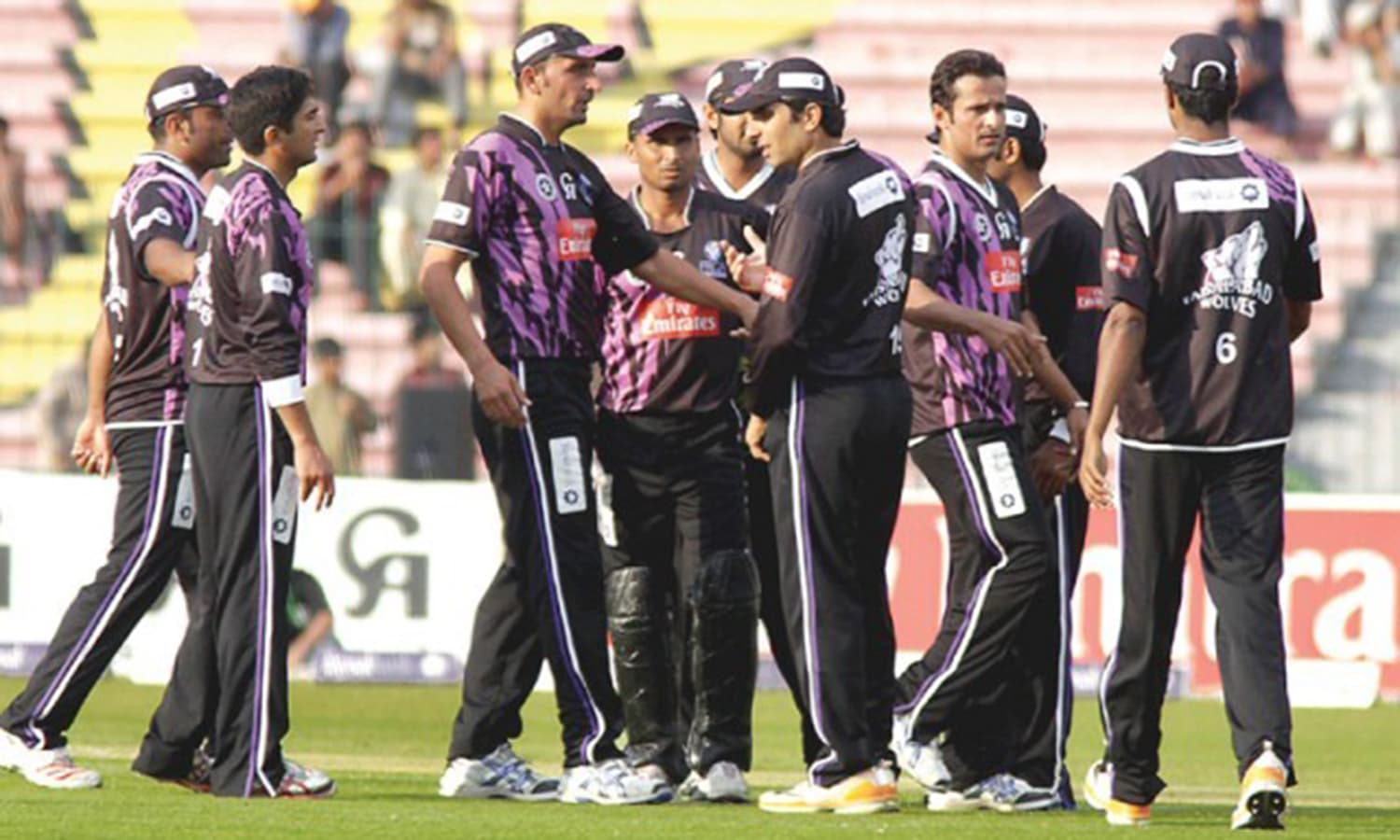 Faisalabad's national T20 team, Faisalabad Wolves. Faisalabad doesn't have a premier league team yet. (Pic: Urdu Wire)
