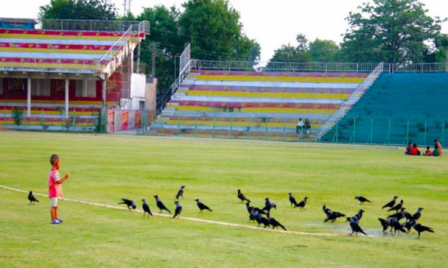 A quiet day at Jinnah Stadium. (Pic: The Nation)