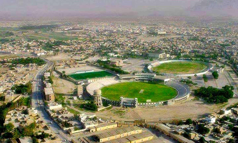 Aerial view of Ayub National Stadium (left). (Pic: Pak Passion)