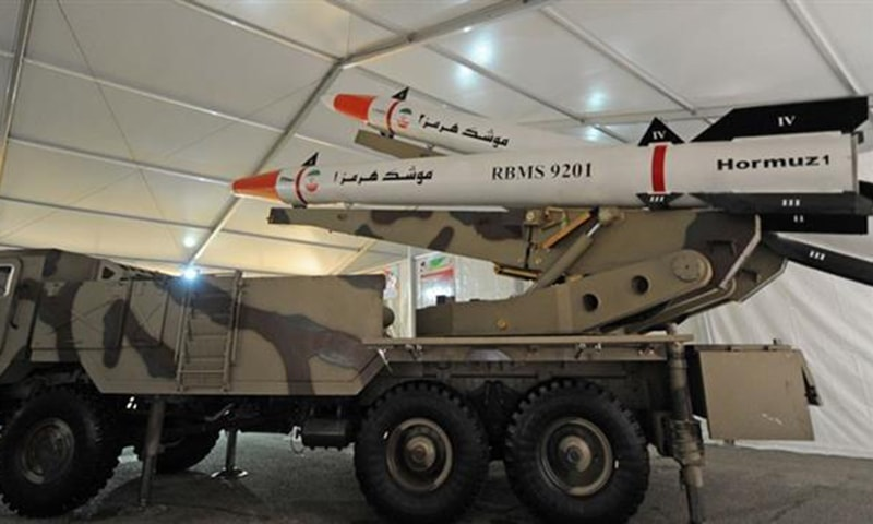 Photo features Iran's domestically manufactured Hormuz-1 and Hormuz-2 ballistic missiles. ─Photo courtesy Tasnim news agency