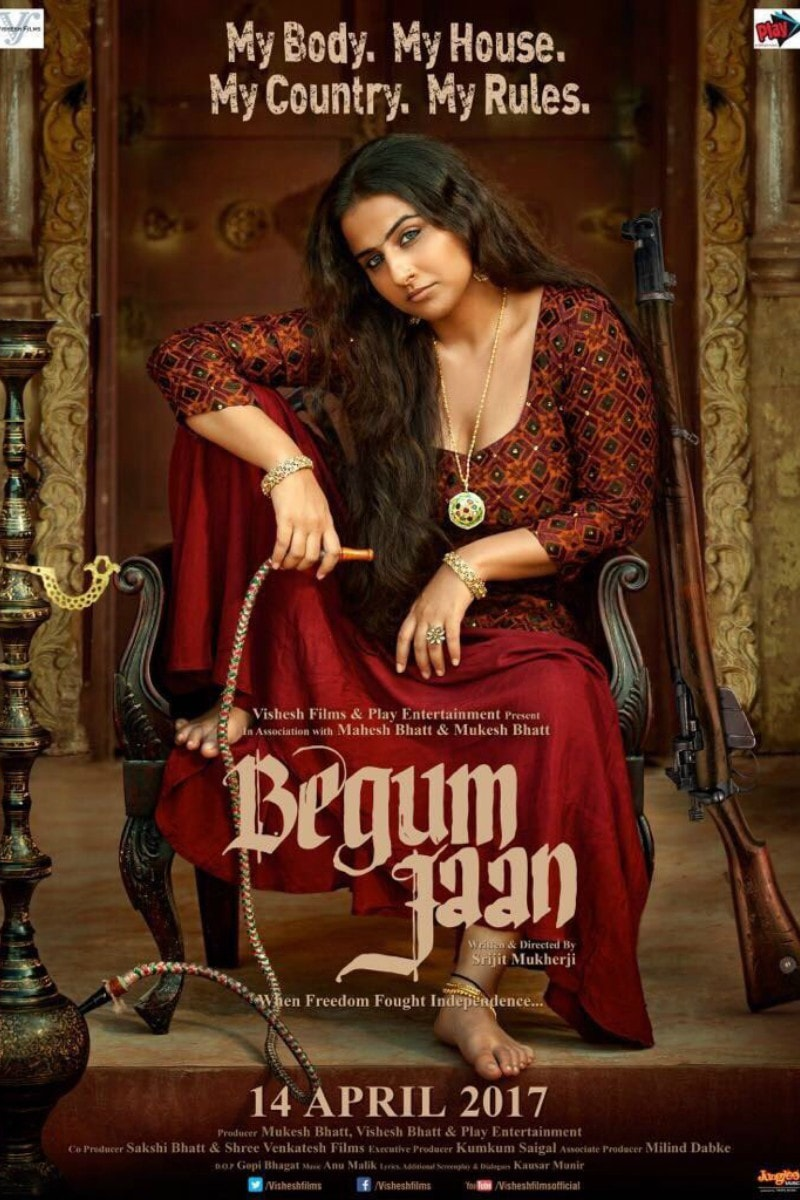 Poster of Begum Jaan, in which Vidya Balan stars as a brothel 'madam'