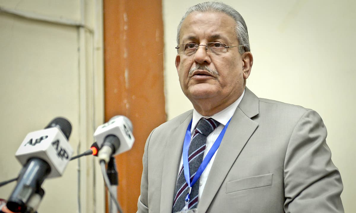 Senate chairman Raza Rabbani speaks at an event | Fahim Siddiqui, White Star