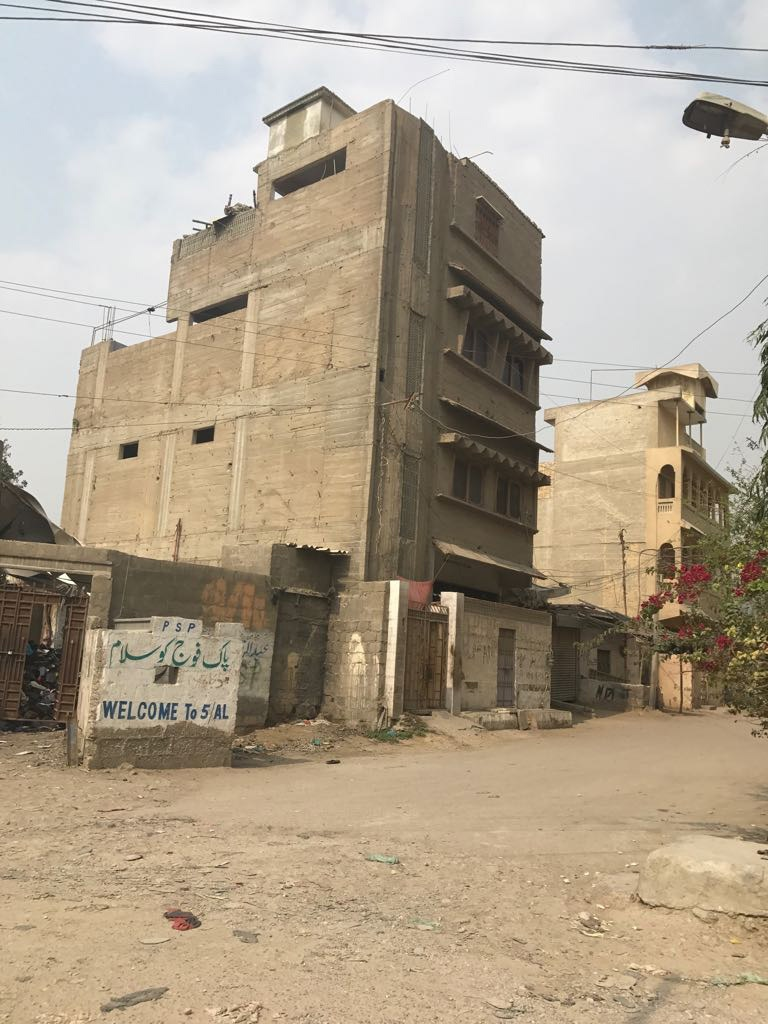 Raheem Swati's house close to the OPP office in Orangi. — White Star