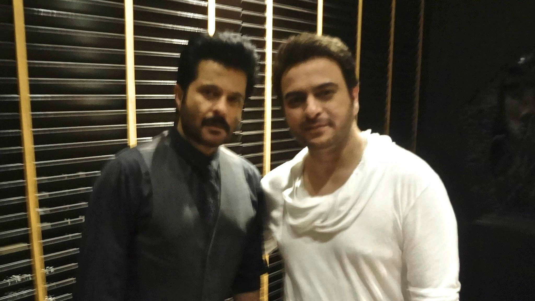Uppal with Anil Kapoor at the Raanjhanaa success party in Mumbai