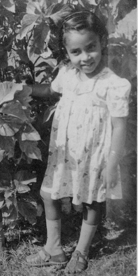 As a little girl. — Photo courtesy OPP