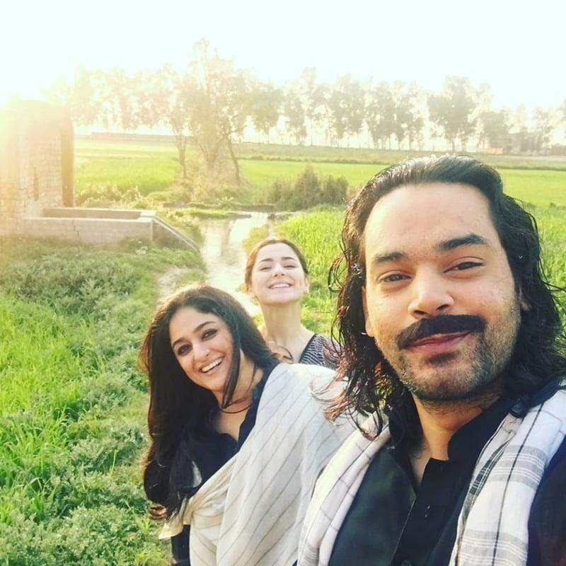 Gohar Rasheed with Nadia Jamil and Hania Amir. Photo: Gohar Rasheed/ Facebook