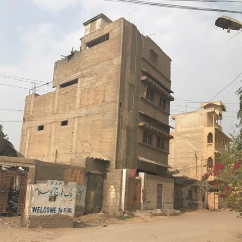 Raheem Swati's house in Orangi across the street from OPP. — White Star