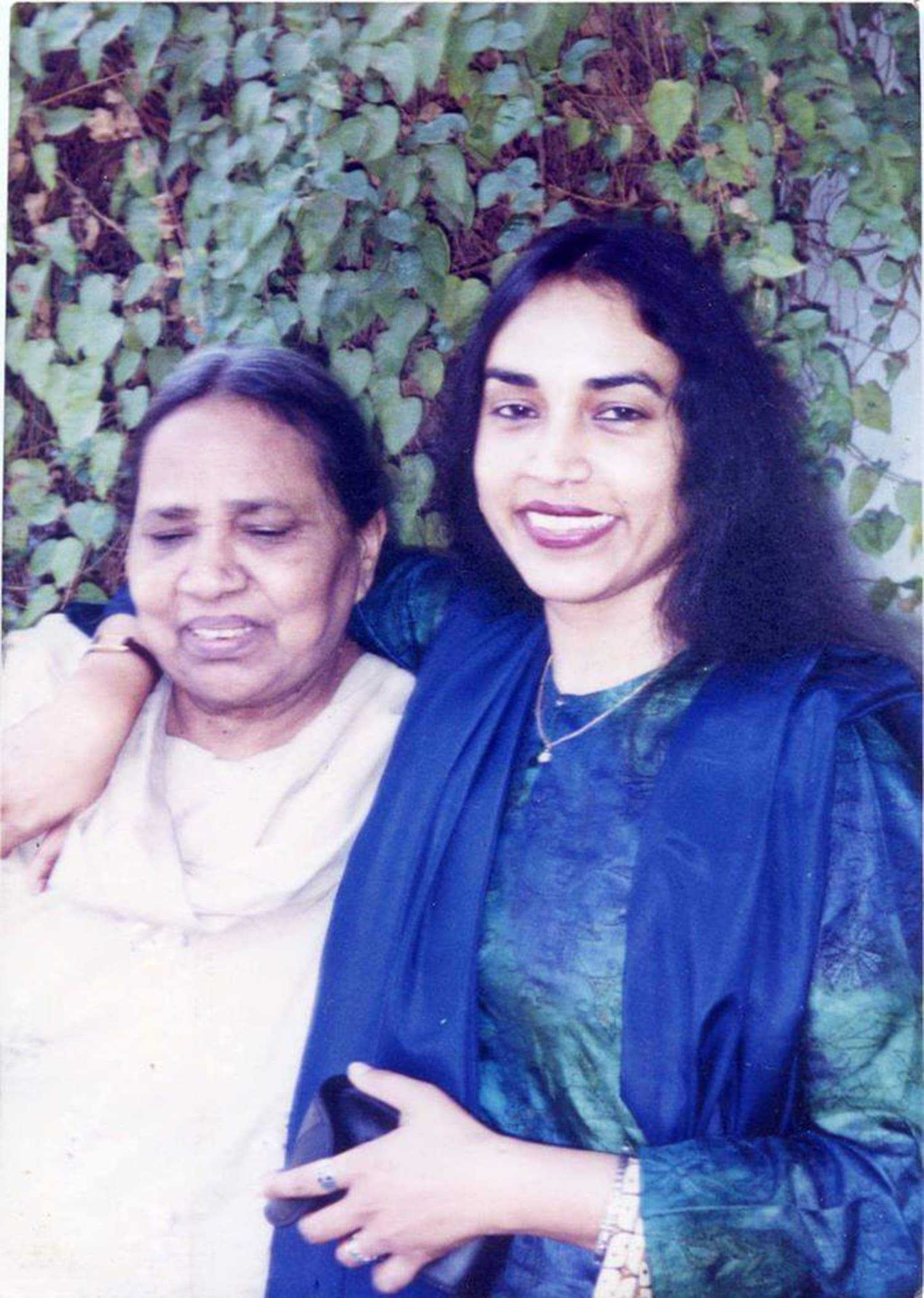 Perween with her mother. Photo credit: Justice for Perween Rahman