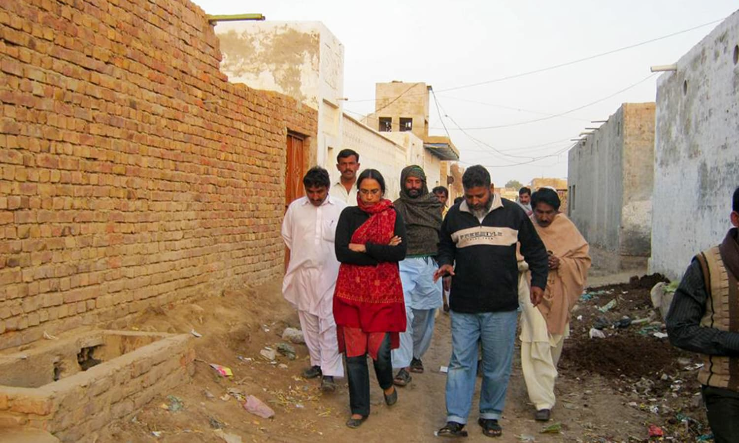 Walking in the streets of Orangi. Photo credit: Justice for Perween Rahman