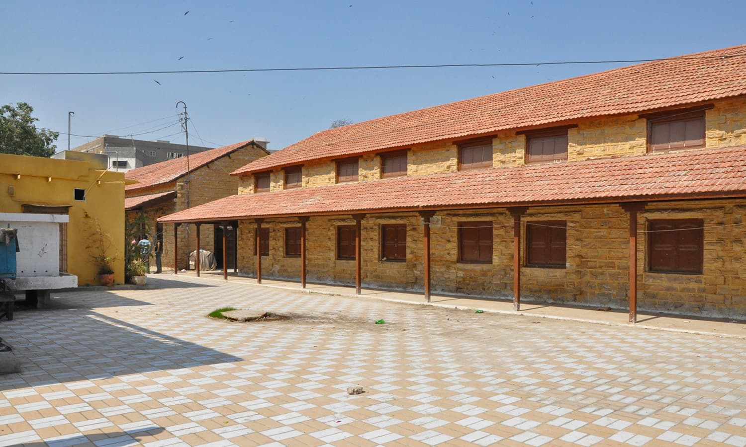 Some parts of the school have been renovated.