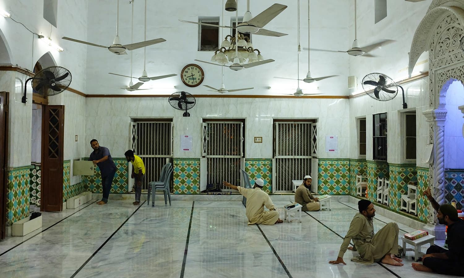 The main praying area inside the mosque.