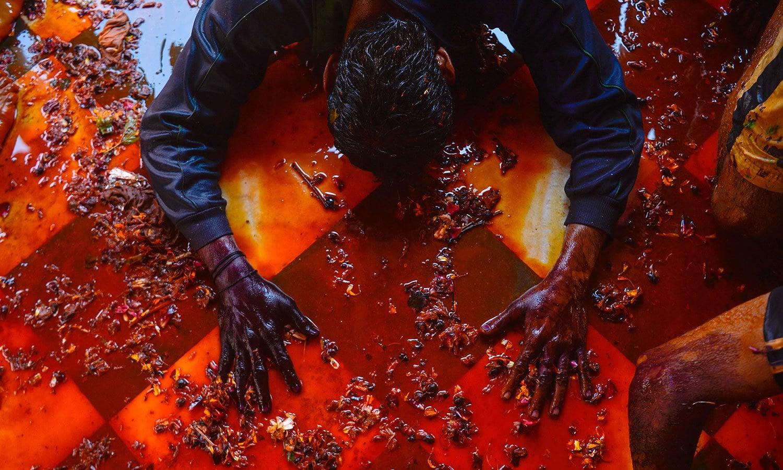 ہولی پر تمام ہندو گھروں میں خصوصی عبادات کا اہتمام کرتے ہیں — فوٹو/ اے ایف پی