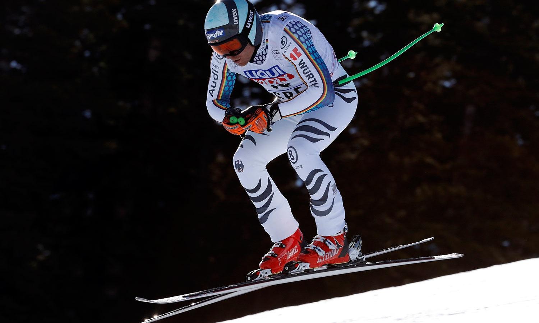 اسکی ورلڈکپ کے مردوں کے مقابلوں میں آندریاس سیندر۔ جرمنی کی نمائندگی کررہے ہیں—فوٹو:رائٹرز