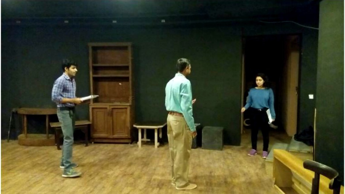 Rehearsal of original play Ikhtiar