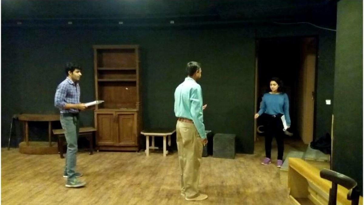 Rehearsal of original play Ikhtiar