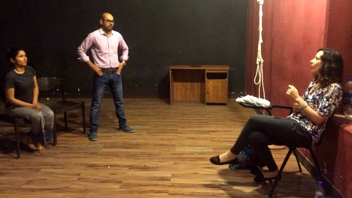 LaQuetta Carpenter holds rehearsals for American play Proof