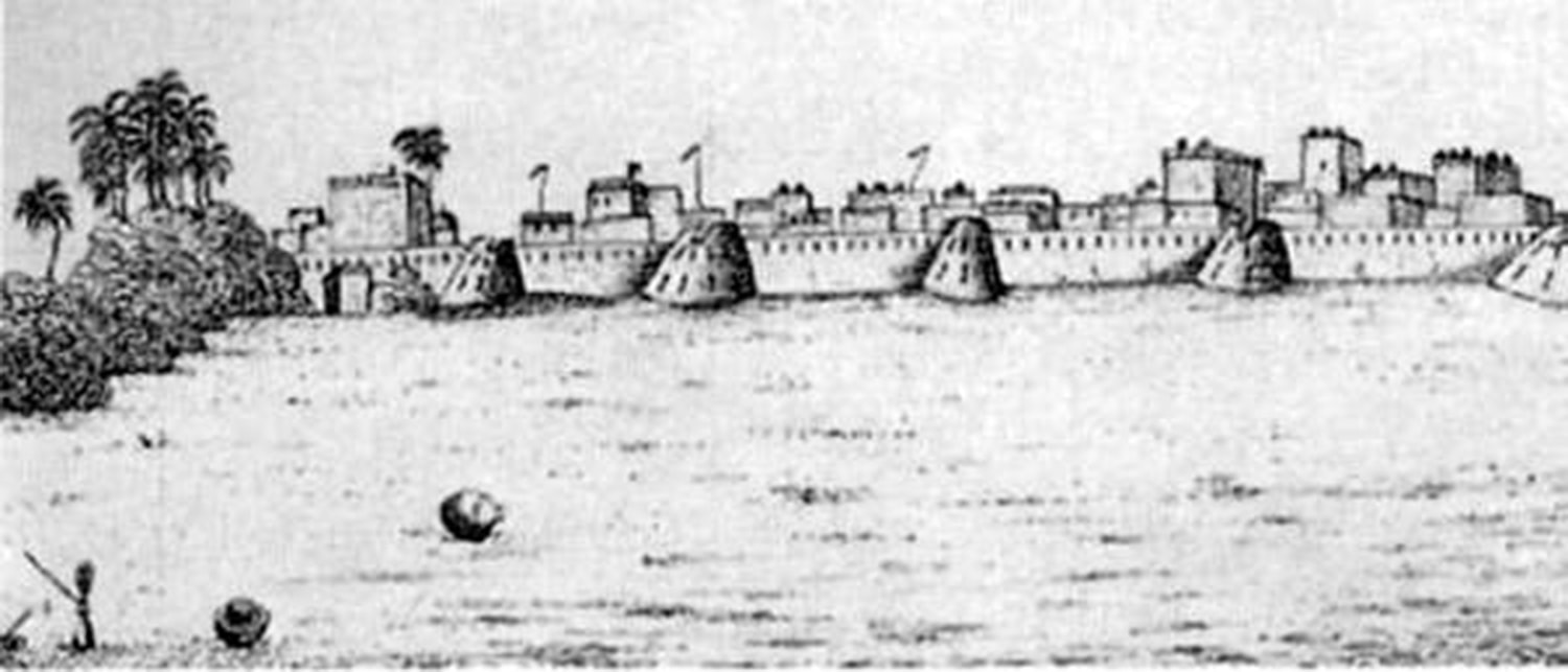A 19th century sketch of Karachi at the time of British (1843). (Photo: Karachi Excalogics)