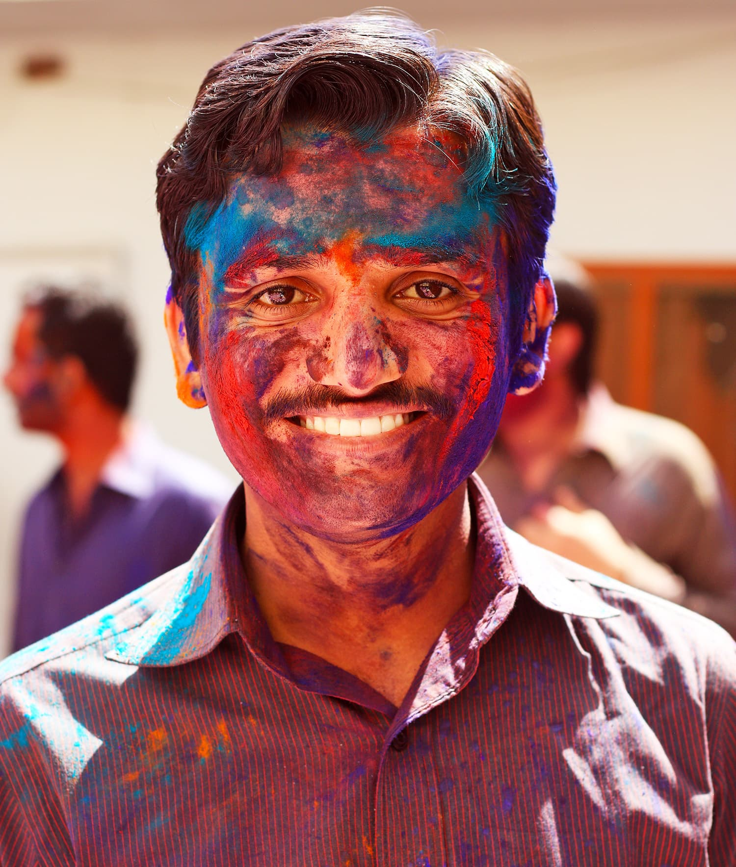 Holi brings out smiles on everyone's faces.