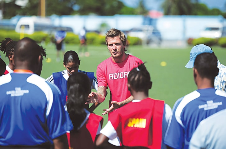After his retirement, Daved Beckham has been engaged in coaching youngsters around the world
