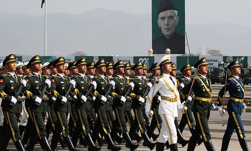 Chinese Honour Guards join Pakistan Day rehearsals