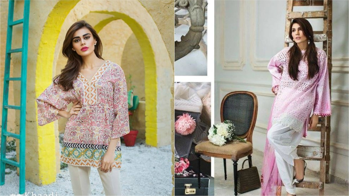 Though it's a tad unclear where these lead... (From L-R: Sadaf Kanwal for Khaadi and Amna Babar for Sana Safinaz)