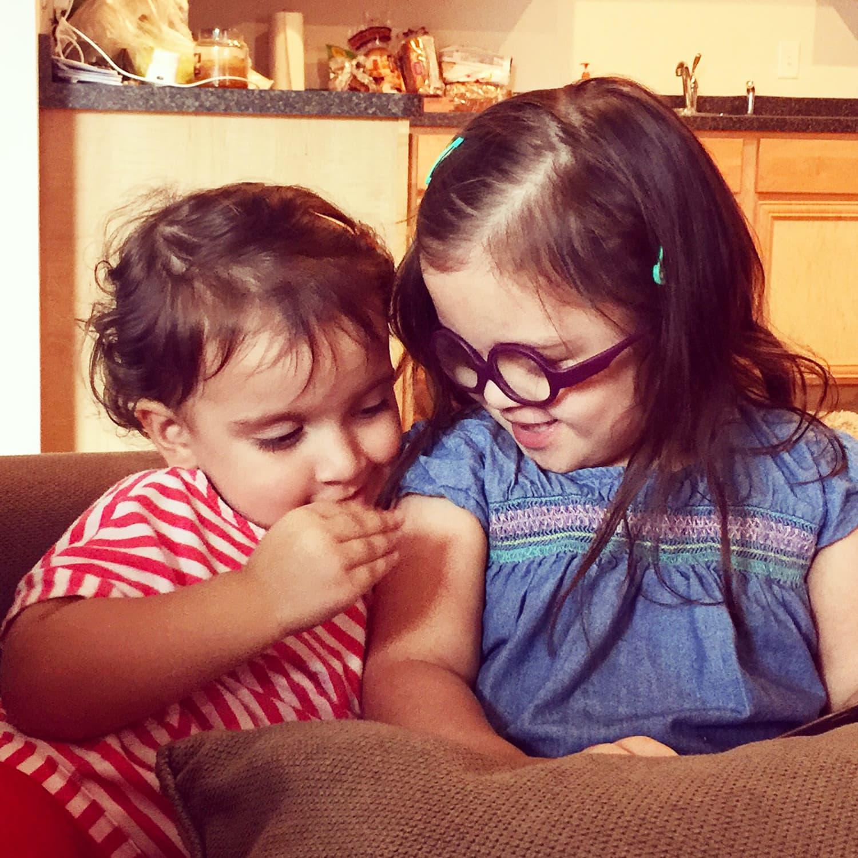 My pride and joy - my two daughters,  Amaya and Alaiyah.