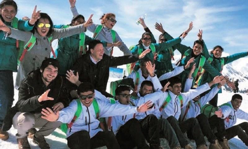 اسپیشل اولمپکس میں شرکت کرنے والے بچے آسٹریا میں گیمز کے آغاز سے قبل پرجوش نظر آ رہے ہیں—۔فوٹو/ ڈان
