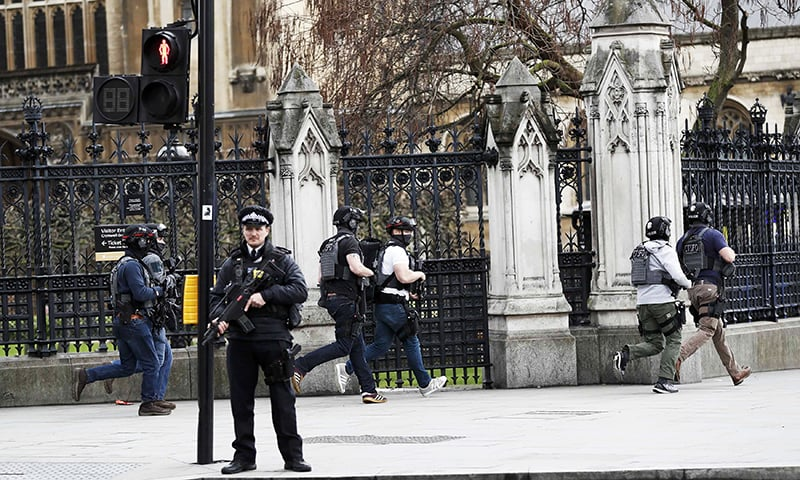 Four dead, including attacker, in UK parliament 'terror' assault