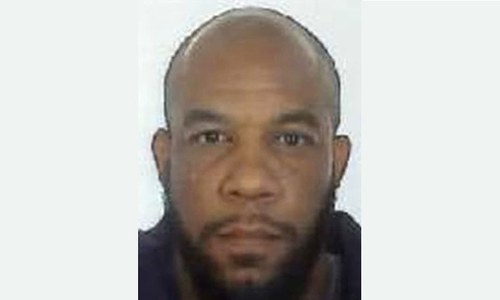 A handout picture released by the British Metropolitan Police Service shows Khalid Masood (aka Adrian Elms, Adrian Russell Ajao). — AFP