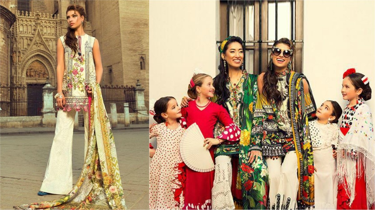 Elan lawn was shot in Spain, complete with foreign kiddos!