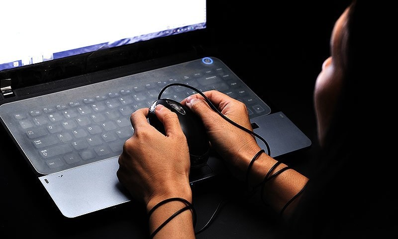 Woman arrested for blackmailing on internet
