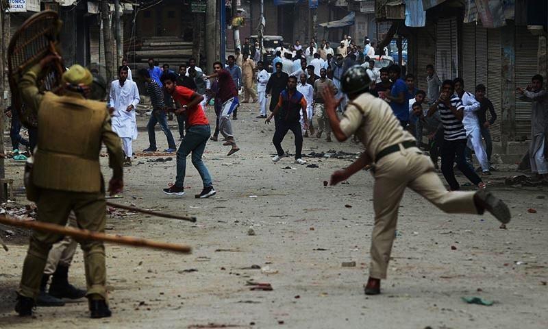 Three  Kashmiri civilians killed in protest against Indian rule