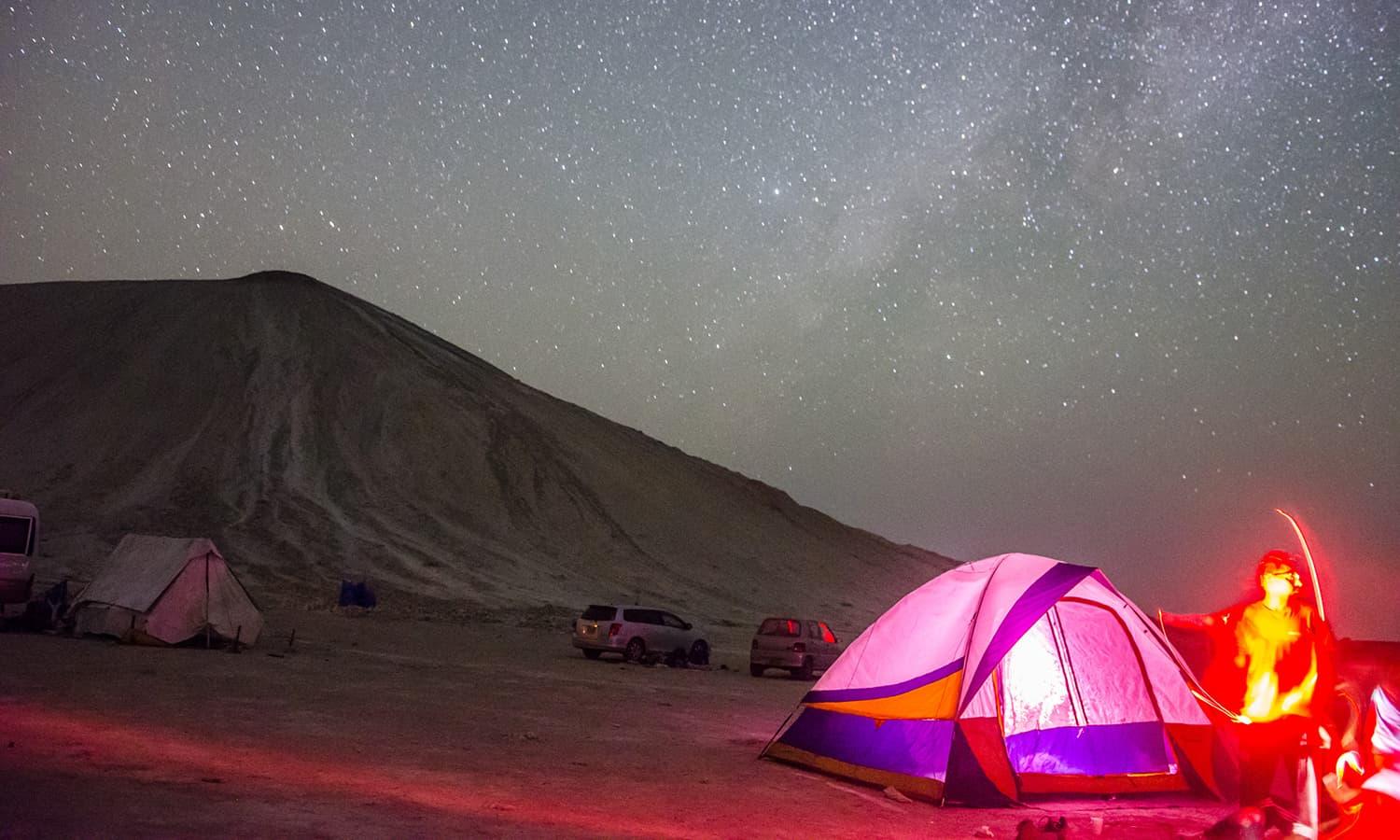 Camping under the stars was an unforgettable experience. (Photo credit: Ramiz Qureshi)