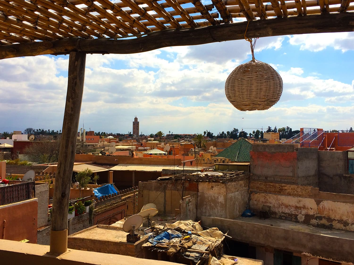 View of the medina from the cafe's rooftop.
