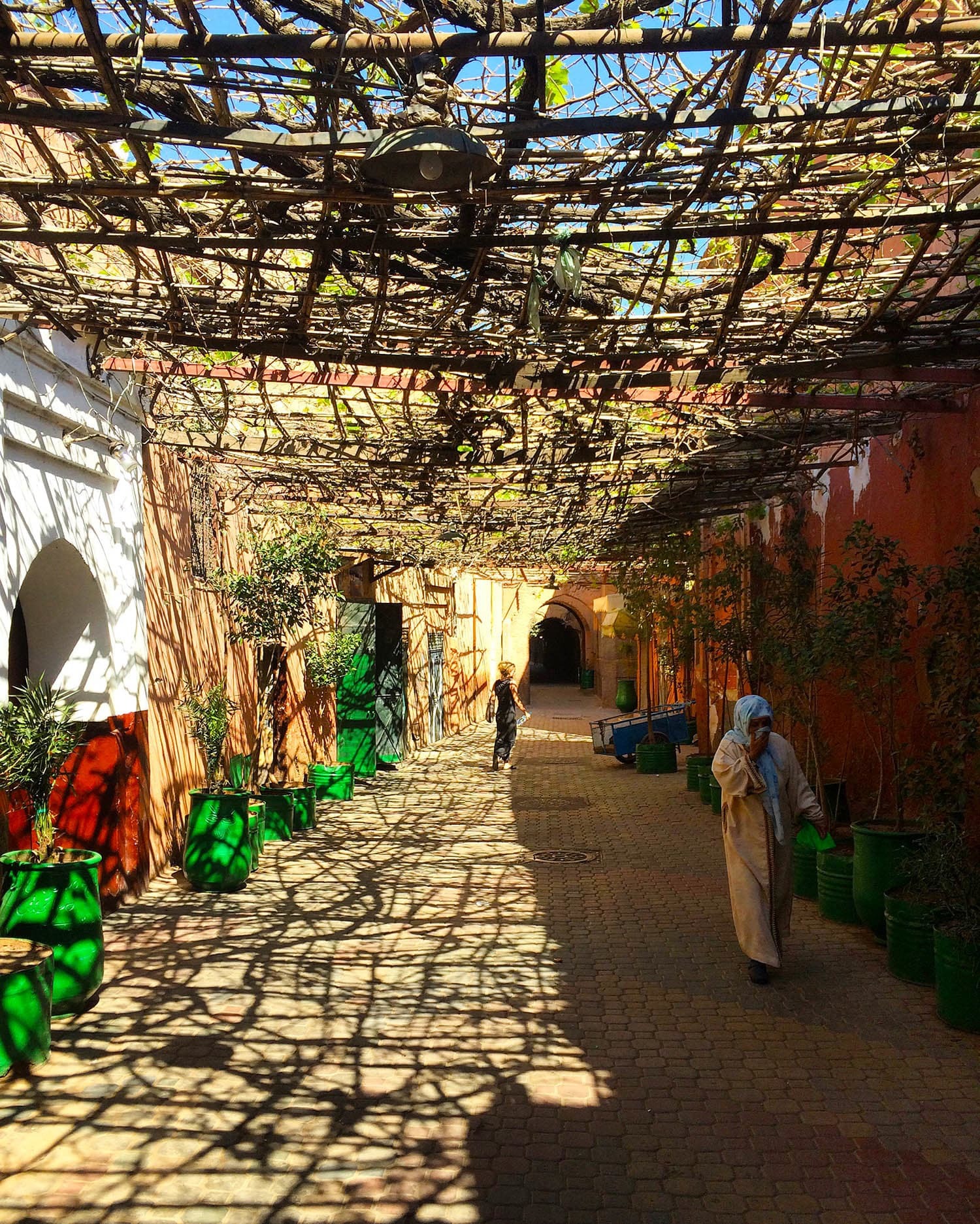 The alleys in Marrakech's medina.