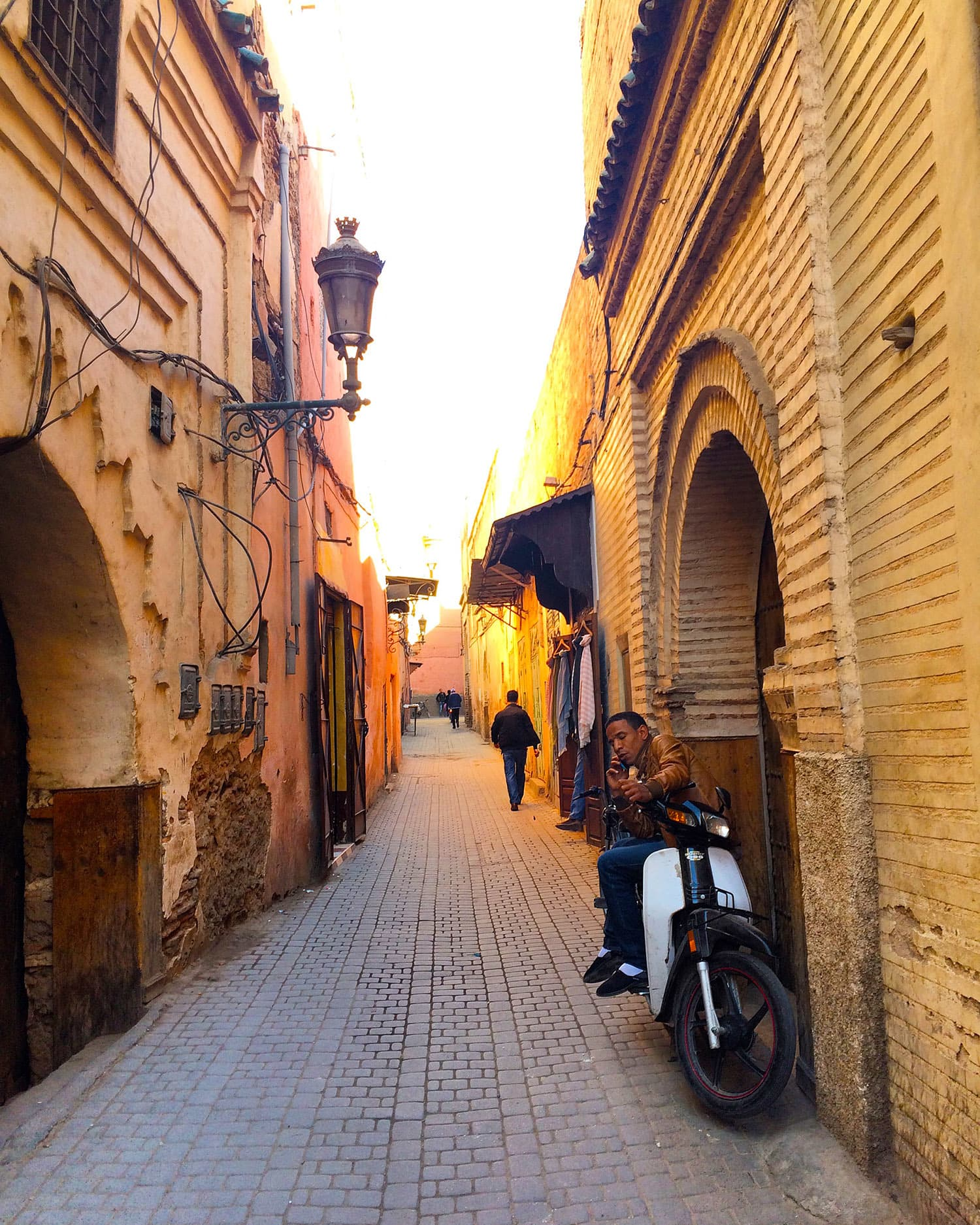The narrow, maze-like alleys in the old city.