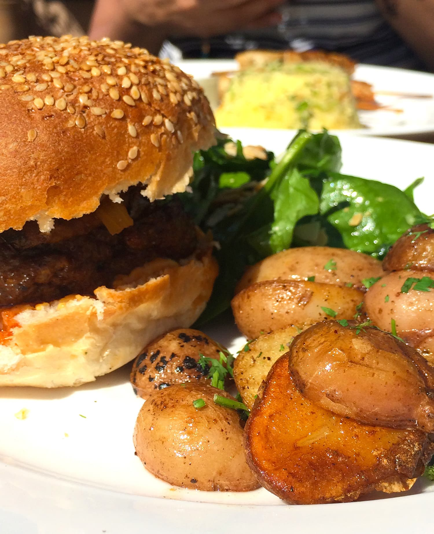 The spiced lamb burger I ordered at Nomad.