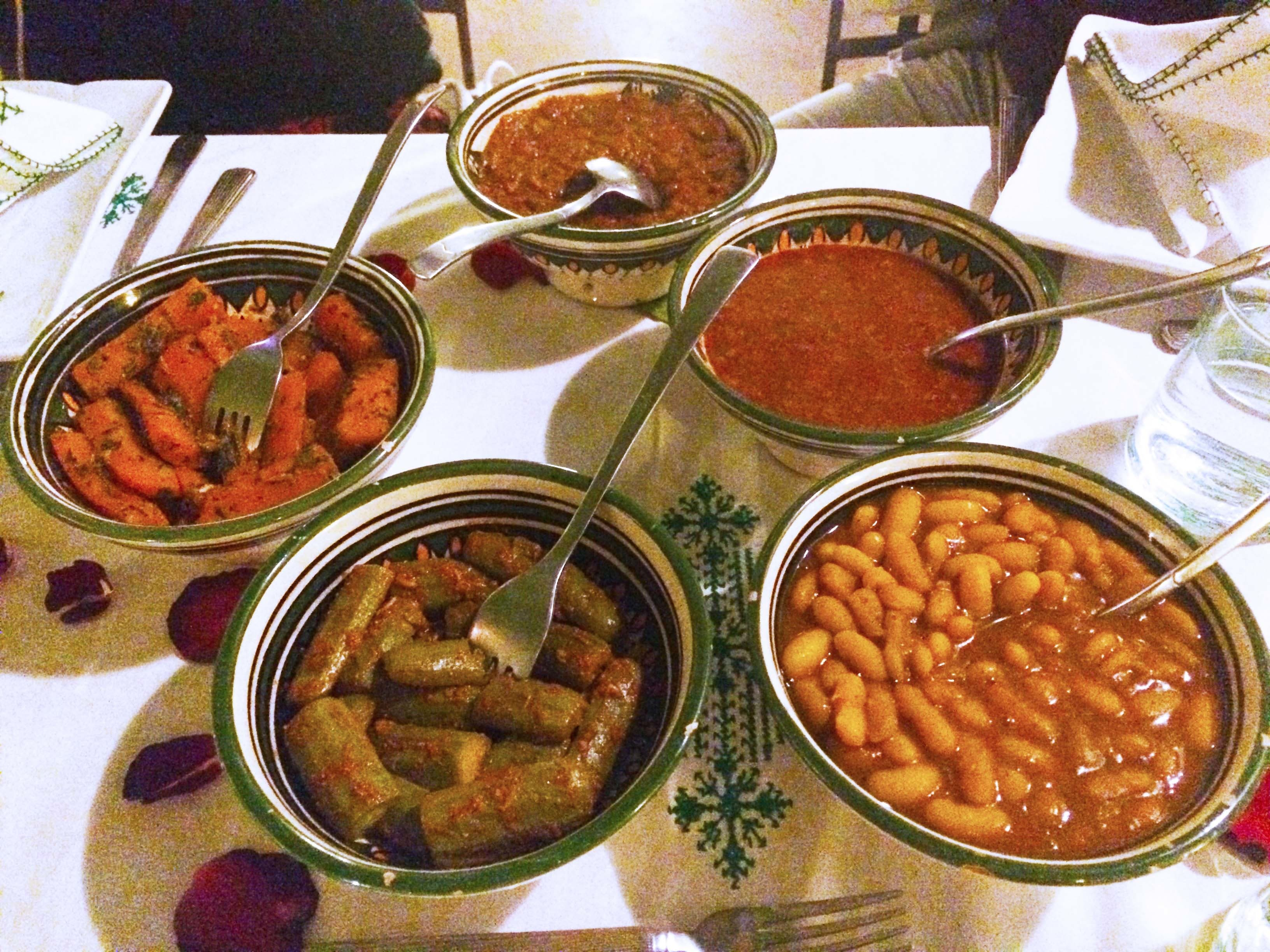 Moroccan Mezze at Riad Karmela.