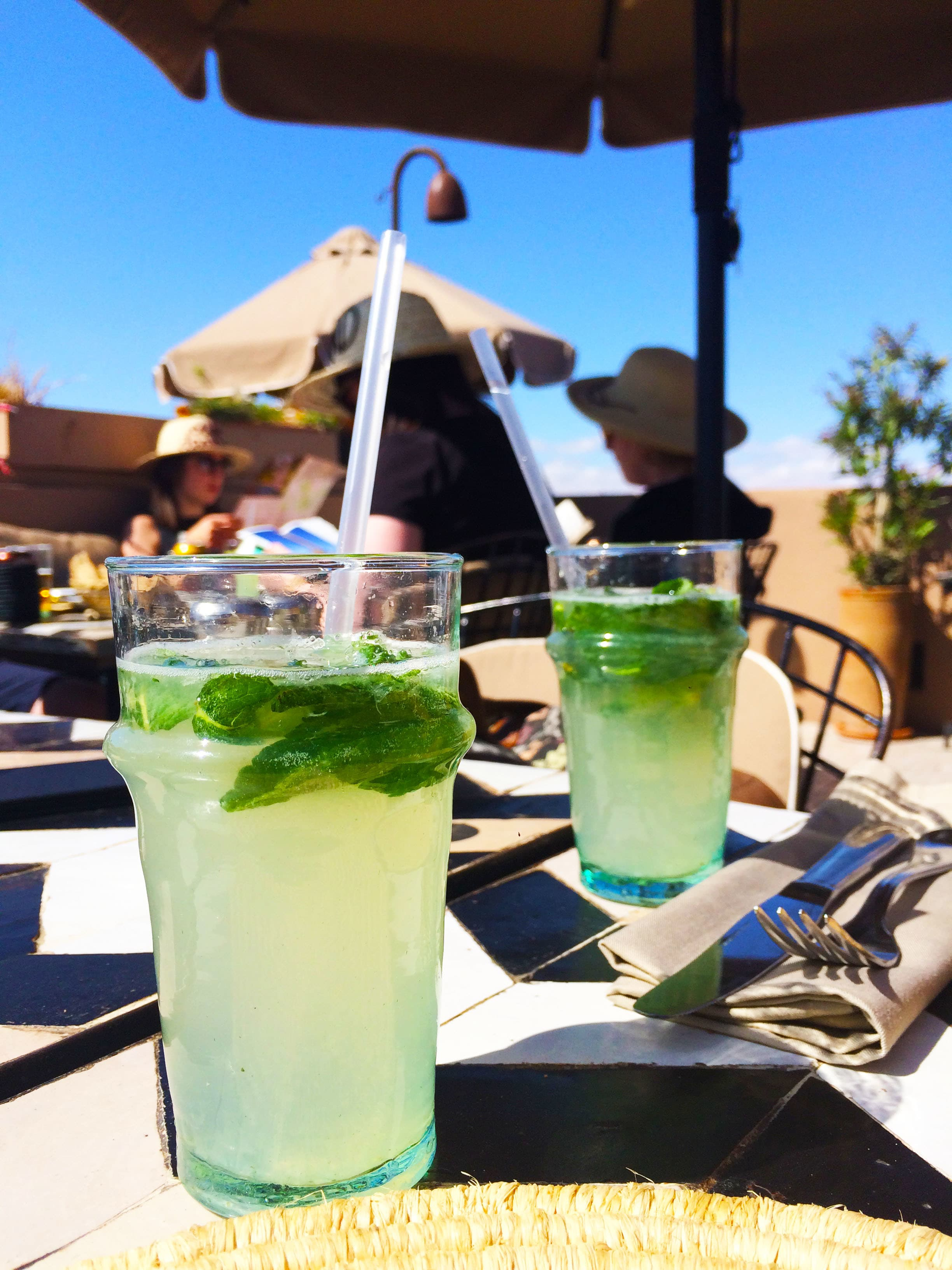 We also ordered refreshing fresh lemonade with mint.